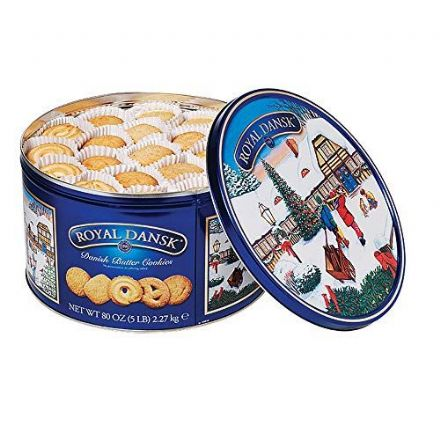 Royal Dansk Danish Butter Cookies 4 Pound Tin